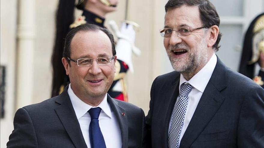 Rajoy y Hollande ultiman hoy detalles del AVE a París y aúnan voz ante la UE