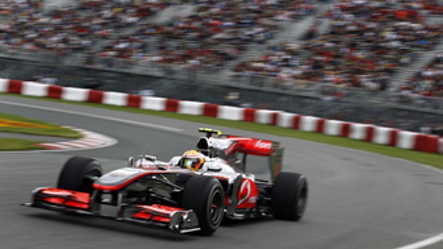 El piloto británico de McLaren Lewis Hamilton