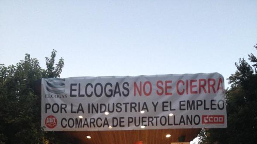 Manifestación contra el cierre de Elcogas. Foto por IU Puertollano / Twitter