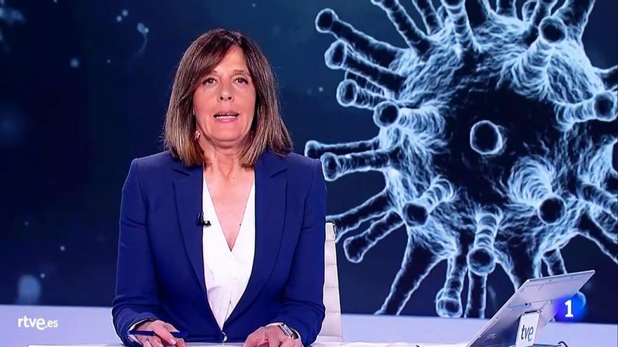 Ana Blanco, en el especial informativo de este jueves