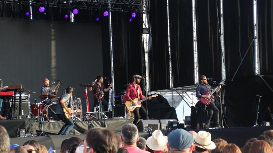 Actuación del grupo Sidecars este sábado en el Love Festival.