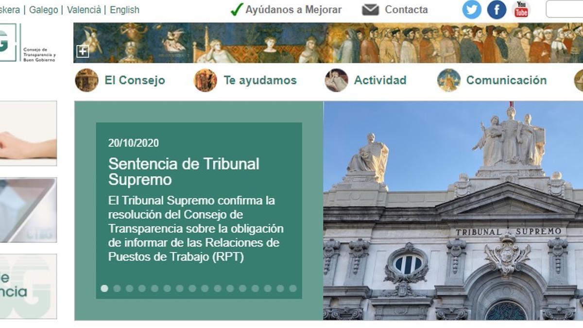 Página web del Consejo de Transparencia