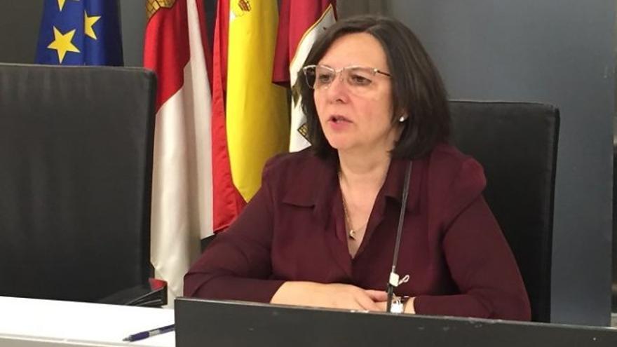 La diputada provincial de IU-Ganemos en la Diputación de Albacete, Victoria Delicado
