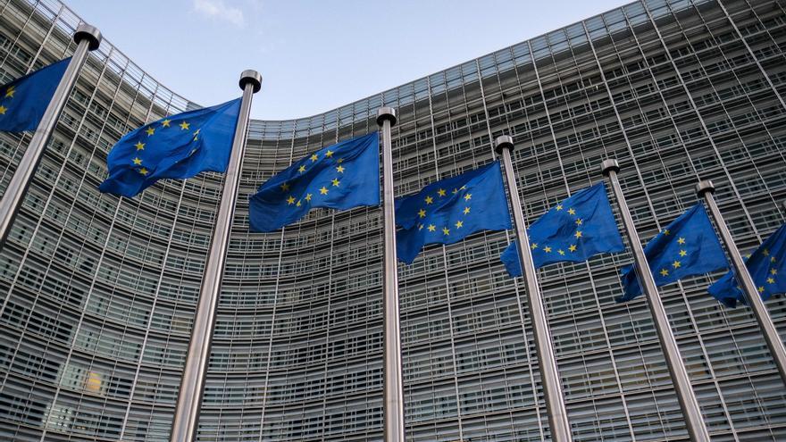 Fachada de la sede de la Comisión Europea, en Bruselas.