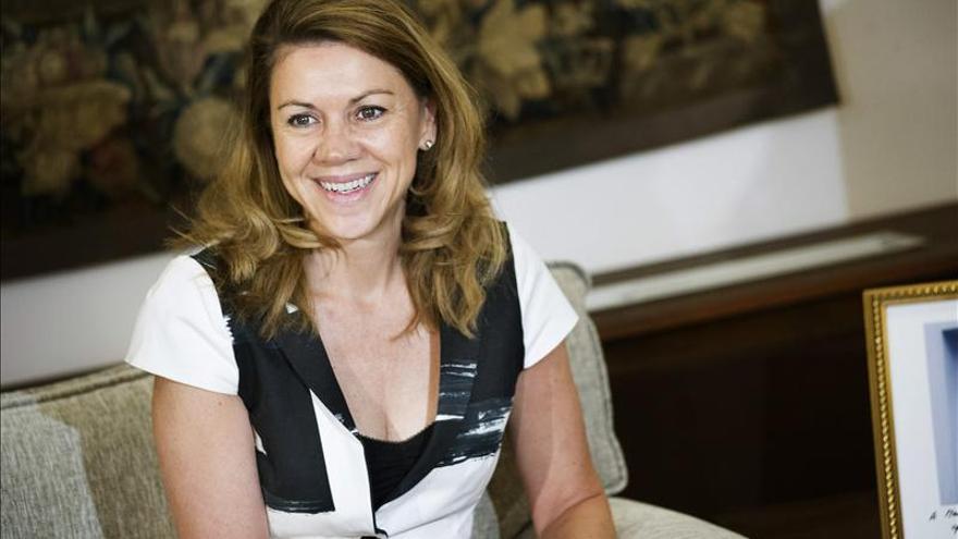 La secretaria general del PP, María Dolores de Cospedal. / Efe