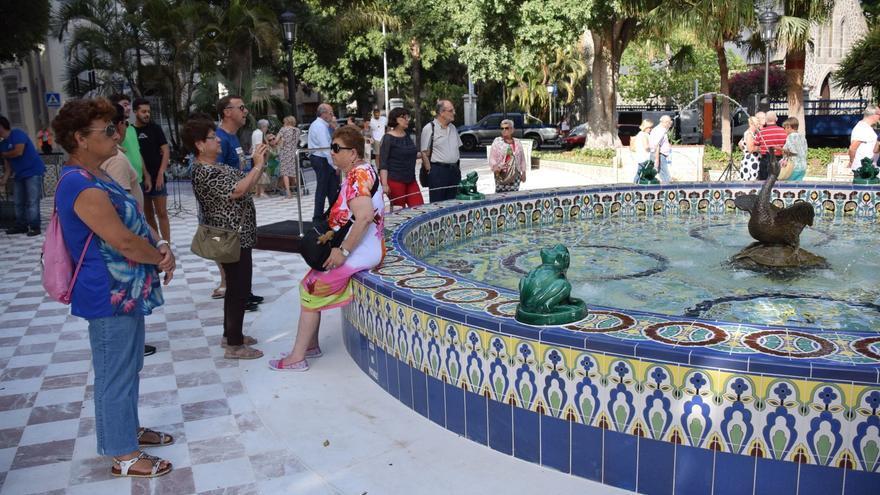 La plaza de Los Patos, tras las obras de mejora, en Santa Cruz