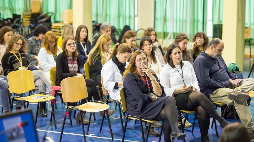 Asistentes a la jornada 'Mujeres en ciencia' en el Hospital Nacional de Parapléjicos