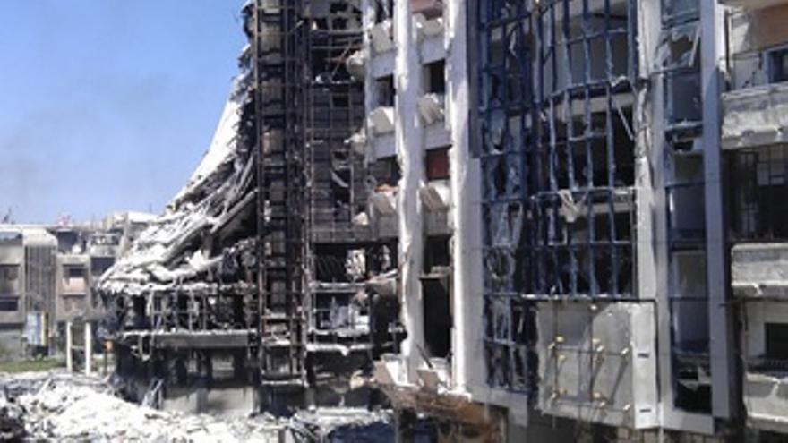 Restos Edificio Homs Siria