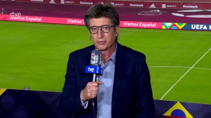 Juan Carlos Rivero en la retransmisión del España-Alemania