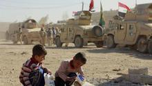 A los niños refugiados de Mosul se les ha olvidado jugar y mostrar sus emociones