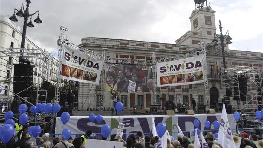 """""""Sí a la Vida"""" celebra su fiesta central en Madrid con críticas a Gallardón"""