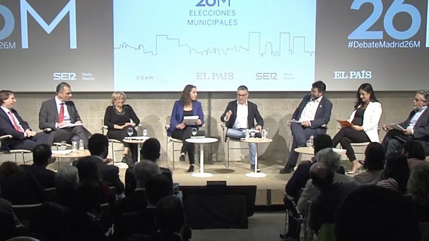 Captura del debate a seis entre los candidatos a la Alcaldía de Madrid.