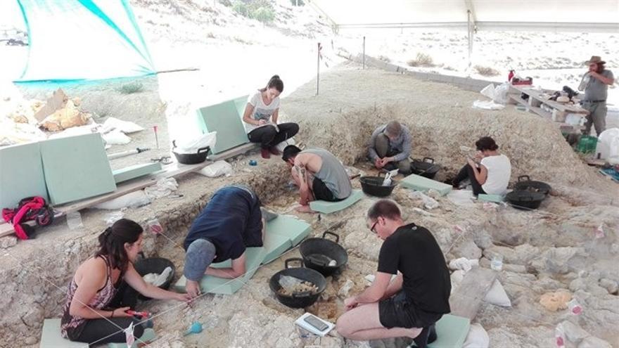 Extraen restos fósiles en buen estado para su exposición del yacimiento de Fuente Nueva 3 en Orce