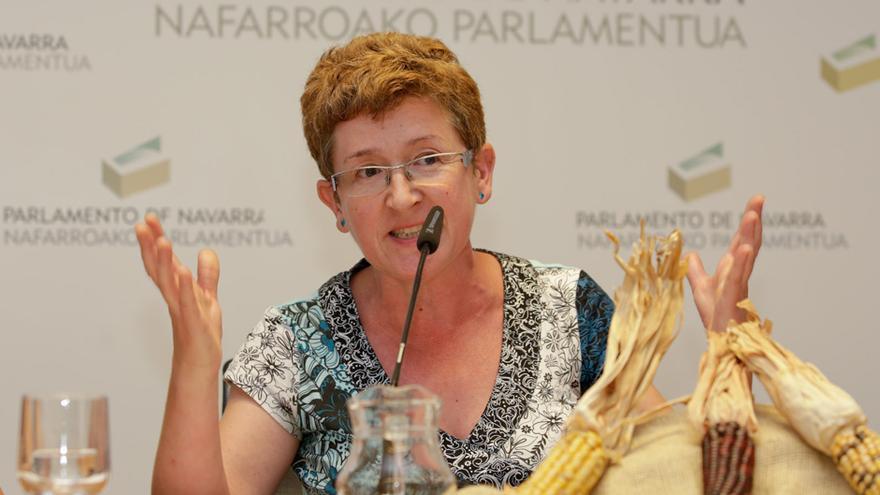 Gotzone Sestorain, en una comparecencia en el Parlamento de Navarra sobre la soberanía alimentaria