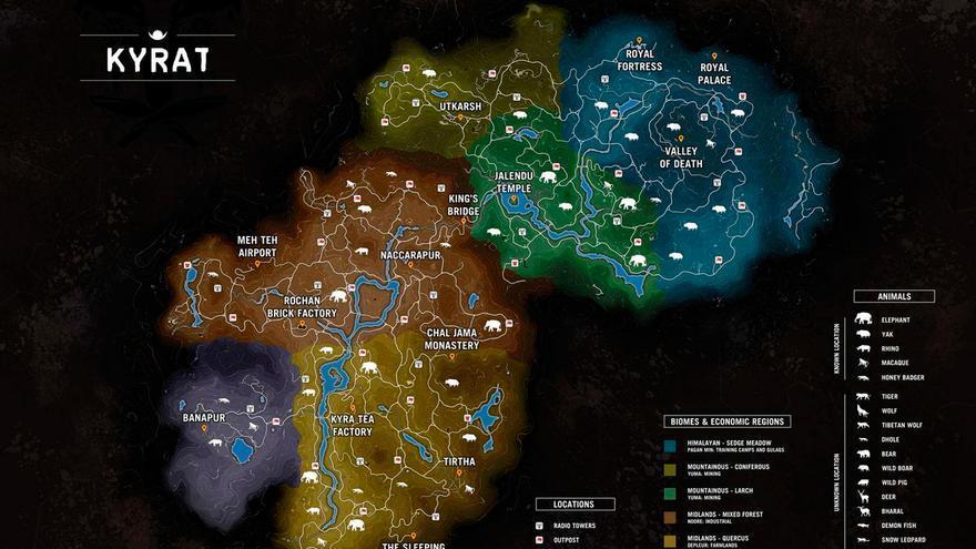 Far Cry 4 mapa filtrado