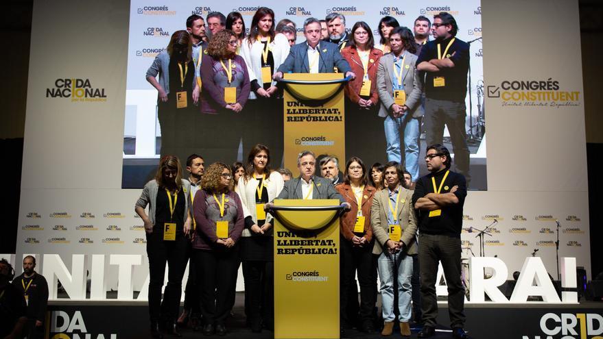 Antoni Morral clausura del congreso de la Crida Nacional per la República