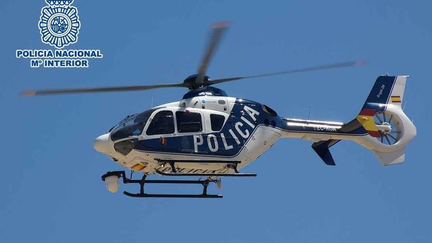 Helicóptero con la cámara