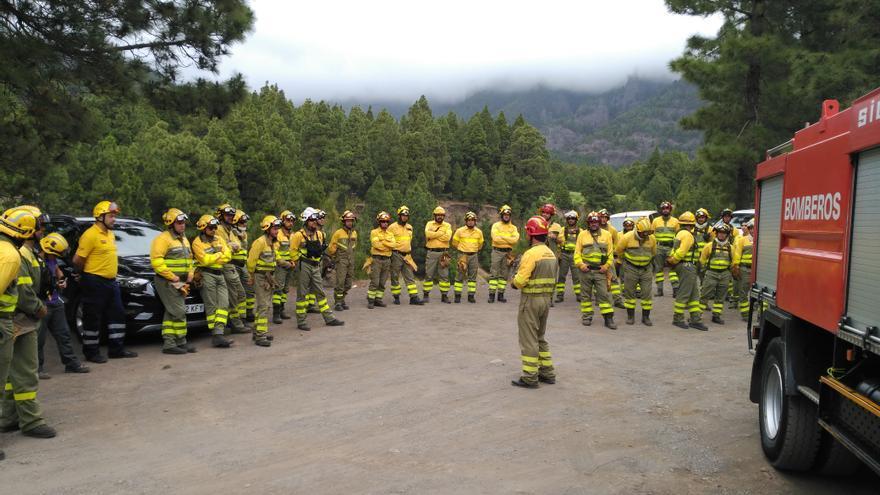 Formación de los operaciones de incendios forestales.