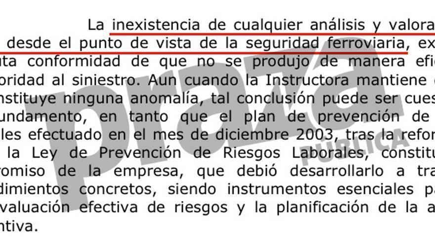 Ausencia de valoración del riesgo en el auto de la Audiencia de Valencia