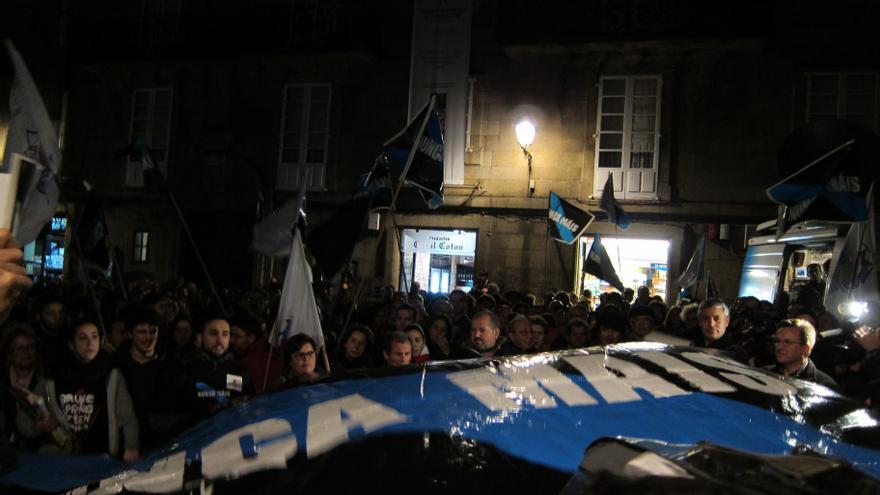 Concentración de Nunca Máis en Santiago, tras la sentencia