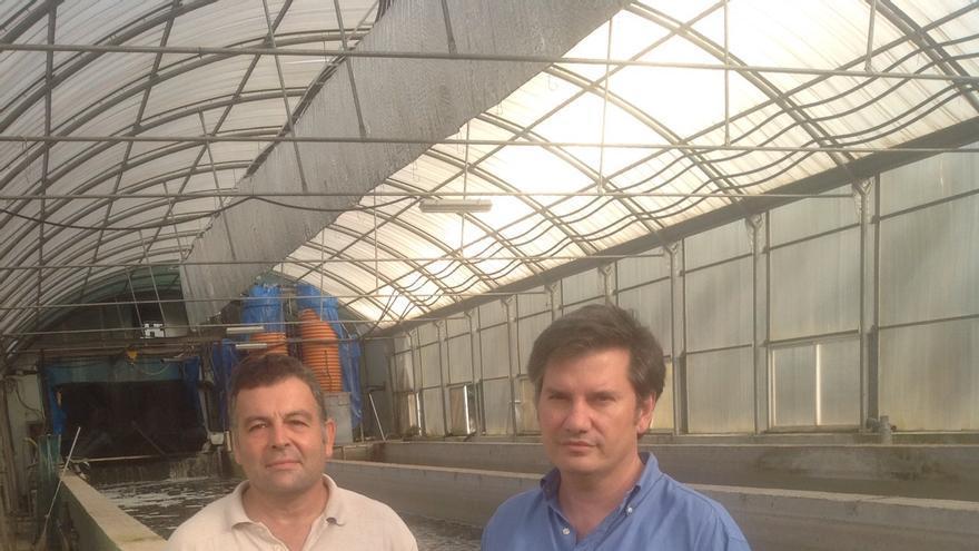 Alberto Cremades y Rafael Ordás, socios propietarios de Granjas Piscícolas del Sur.