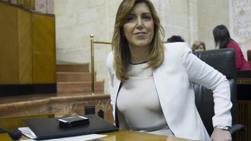 """Susana Díaz reivindica a García-Page como un político """"honrado y apasionado"""""""