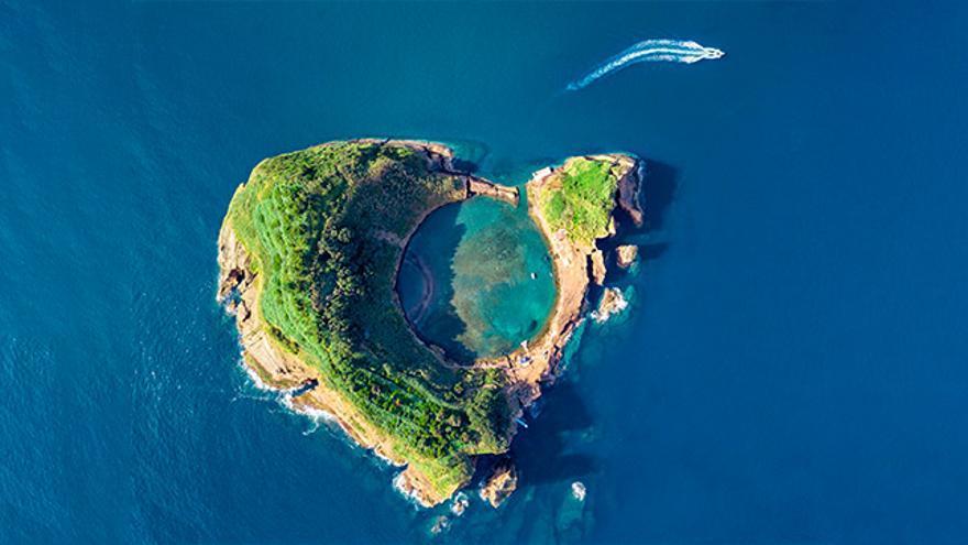 Vista aérea de las Azores.