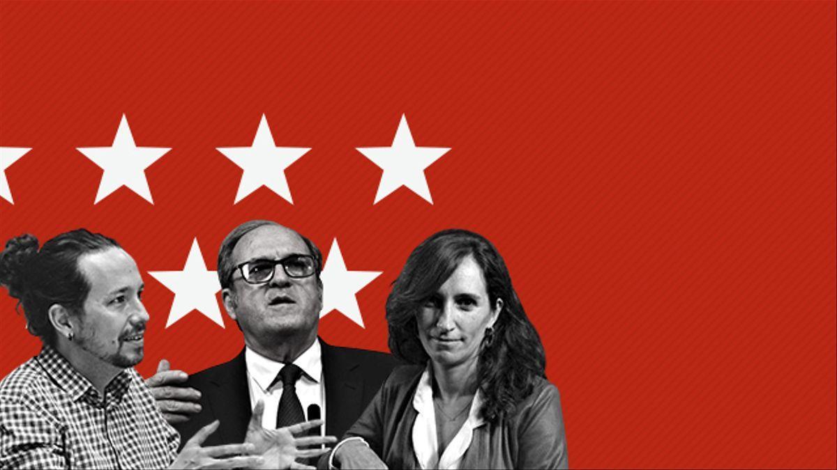 Los candidatos Pablo Iglesias, Ángel Gabilondo y Mónica García.