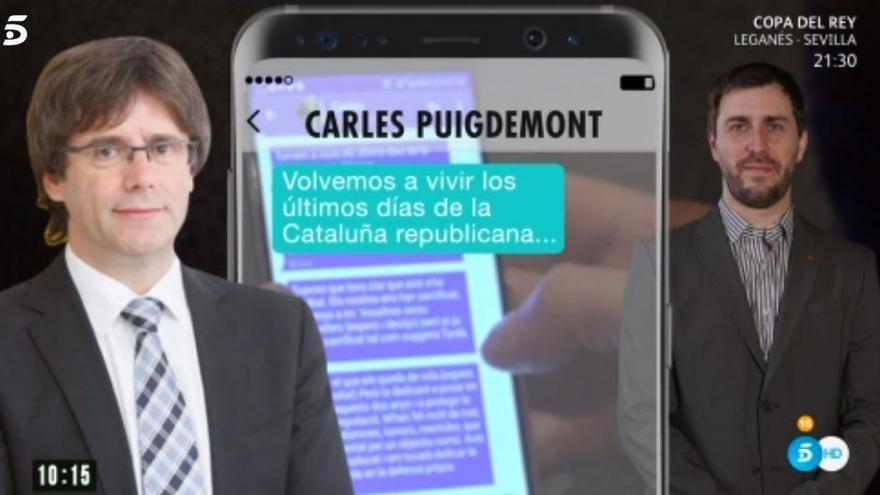 Los mensajes de Puigdemont a Comín desvelados por Telecinco.