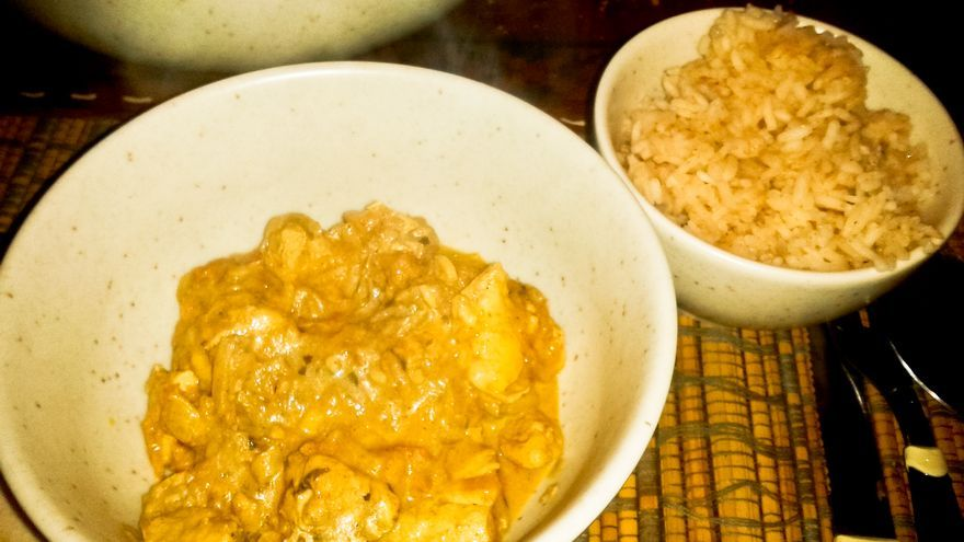 Pollo Tikka Massala, un clásico de la gastronomía hindú.