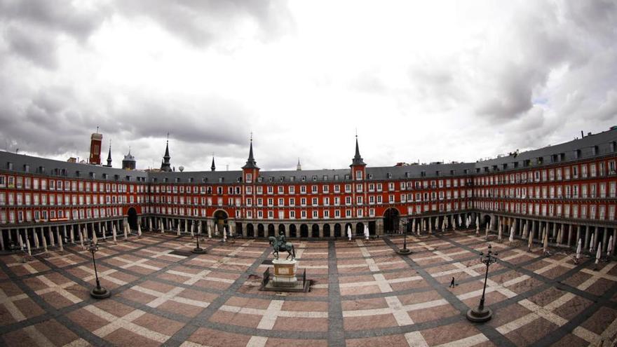 Plaza Mayor vacía | imagen: Ayuntamiento de Madrid