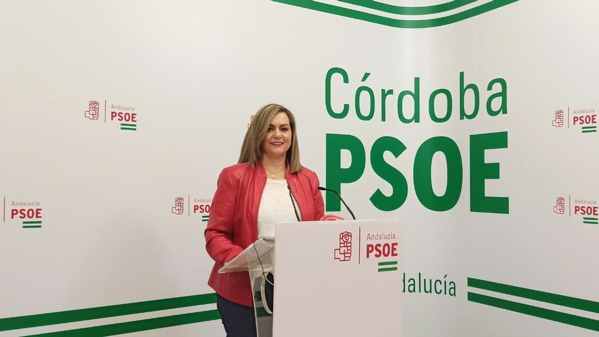 La senadora y secretaria de Política Municipal de la Comisión Ejecutiva Regional, María Jesús Serrano