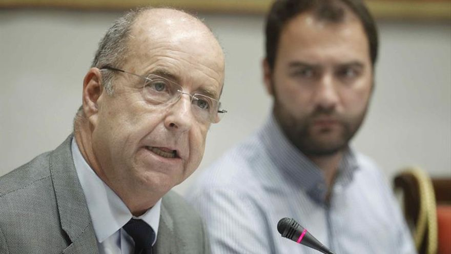 El consejero de Economía, Industria, Comercio y Conocimiento del Gobierno de Canarias, Pedro Ortega. EFE/Cristóbal García