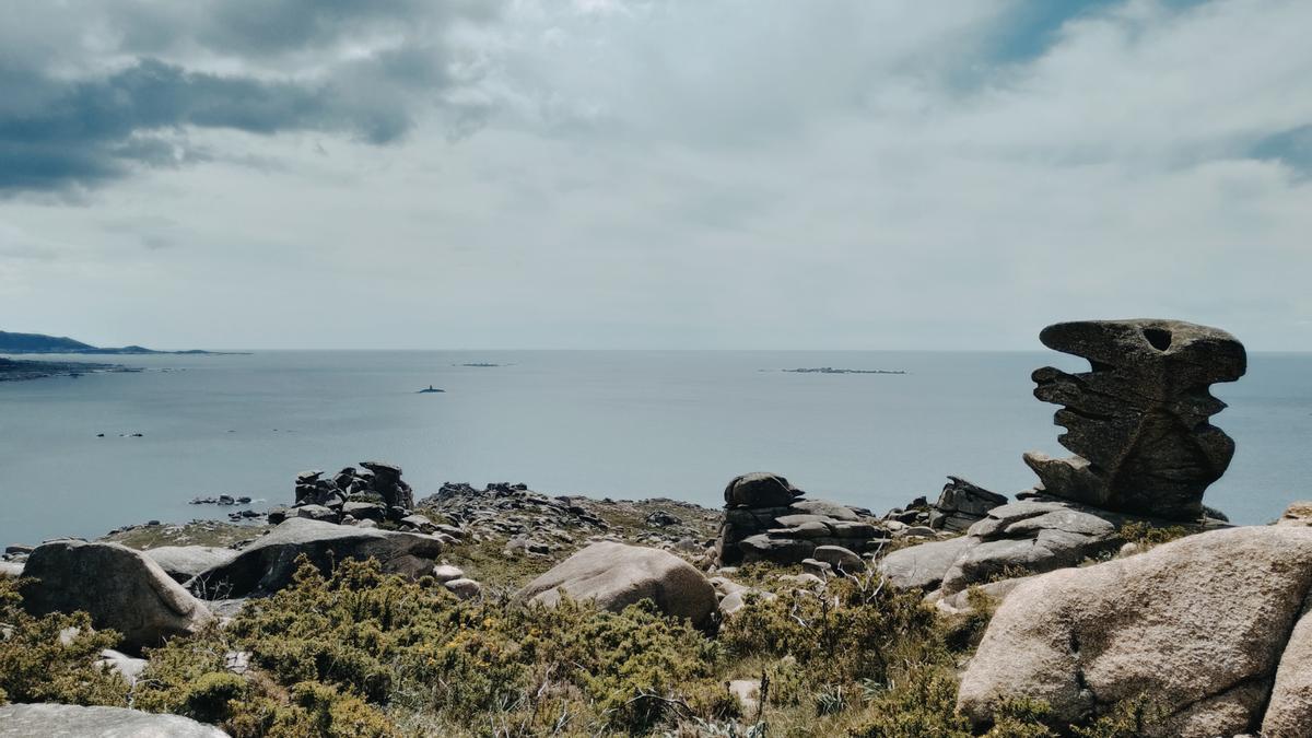 Vista de los apéndices del finisterre gallego