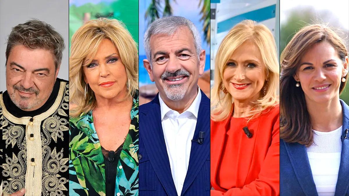 Antonio Canales, Lydia Lozano, Carlos Sobera, Cristina Cifuentes y Fabiola Martínez