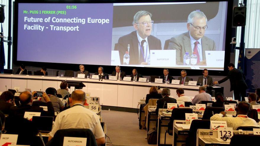 Un momento de la intervención de Ximo Puig en el pleno del Comité Europeo de las Regiones (CdR)