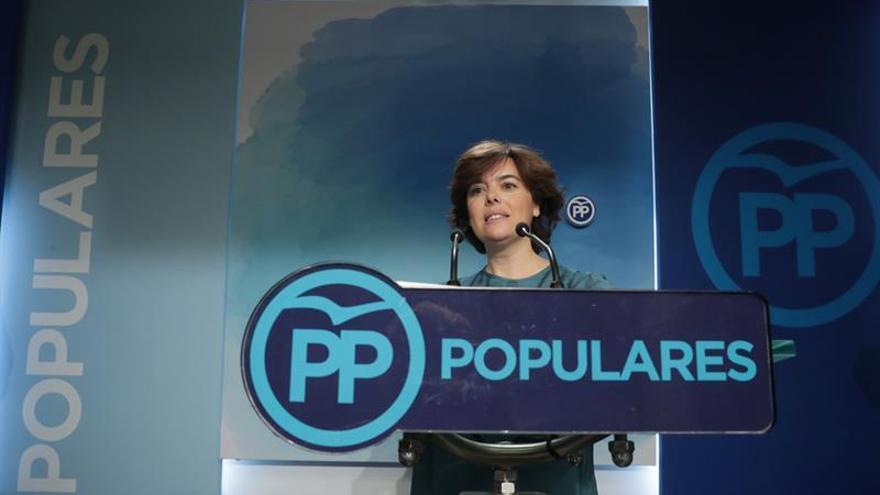 Sáenz de Santamaría: Está en el ADN del PP que mande la lista más votada