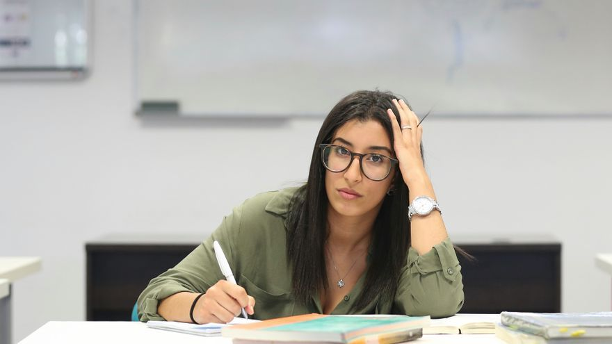 Salma, 20 años, repitió dos veces en tres años durante la secundaria / MARTA JARA