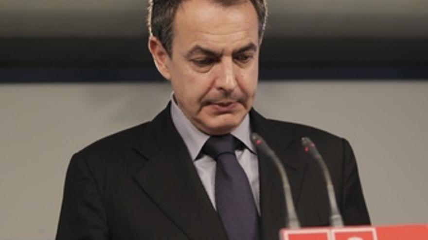 José Luis Rodríguez Zapatero, Cabizbajo, Tras Perder Las Elecciones