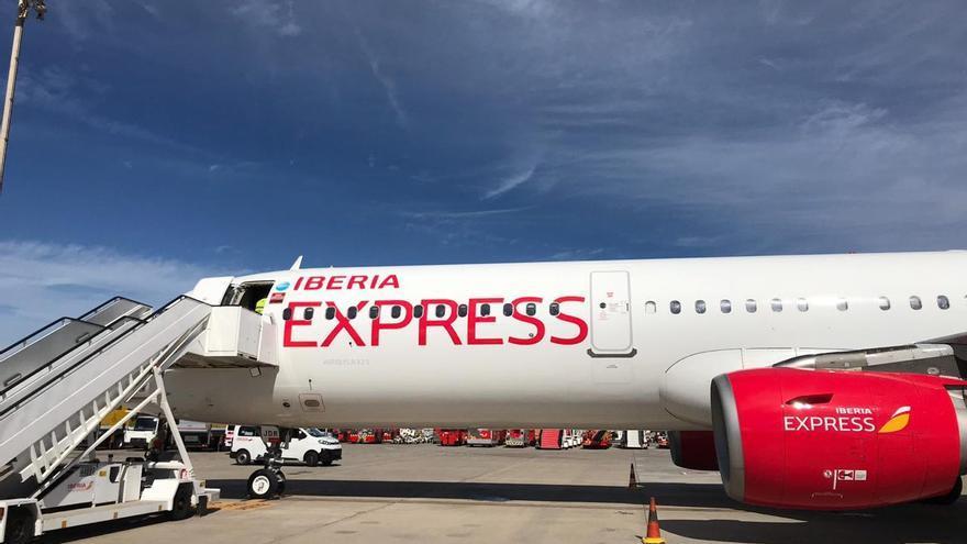 Avión de Iberia Express que tuvo problemas de navegación