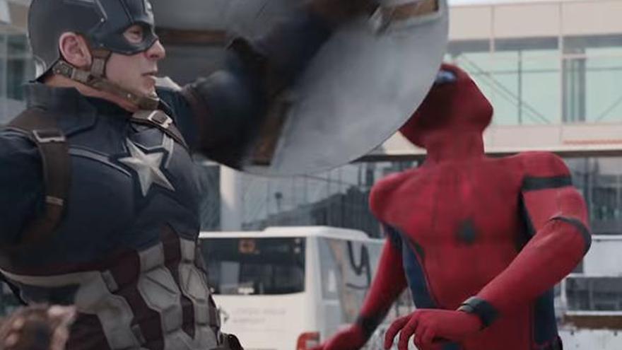 Spider-Man en la película 'Capitán América: Civil War'