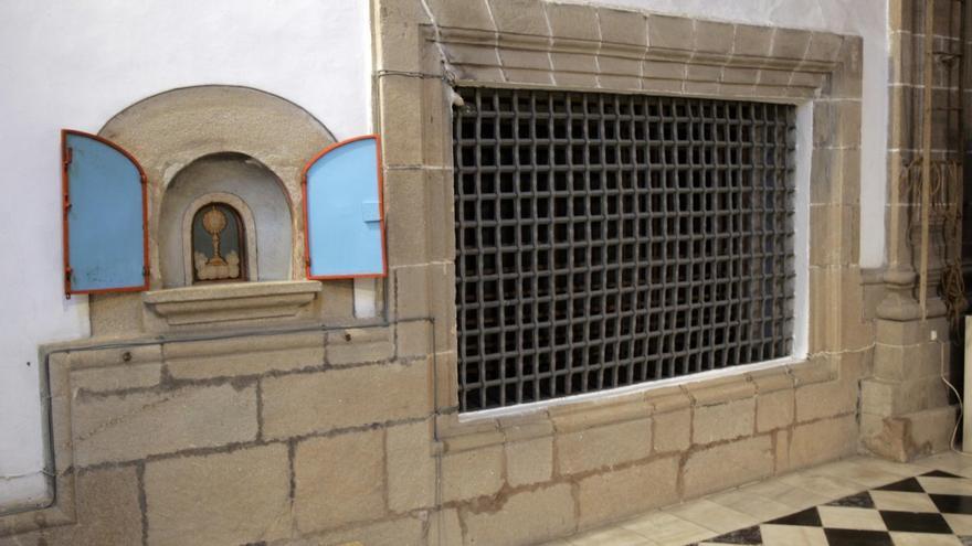Detalle de la parte visitable del convento de las Mercedarias en Santiago