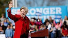 La candidata a las presidenciales de 2020, Elizabeth Warren.