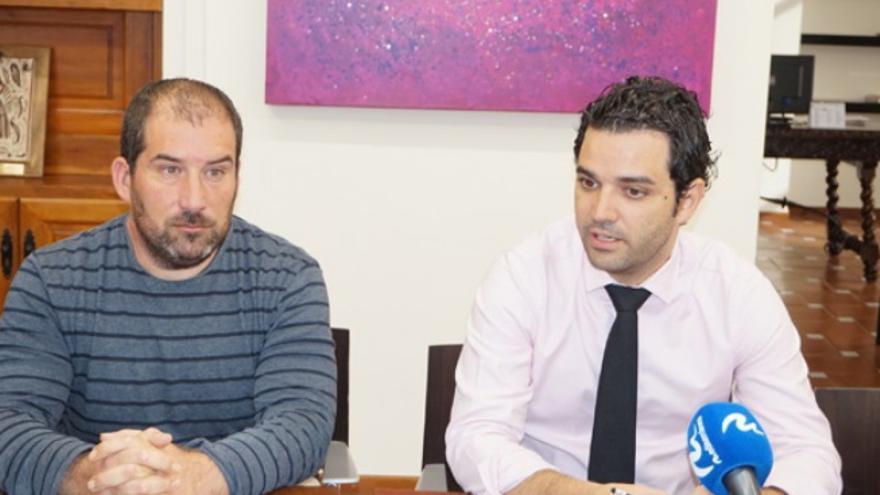 Carles Martí (Compromís) y Juan Antonio Sagredo (PSPV)
