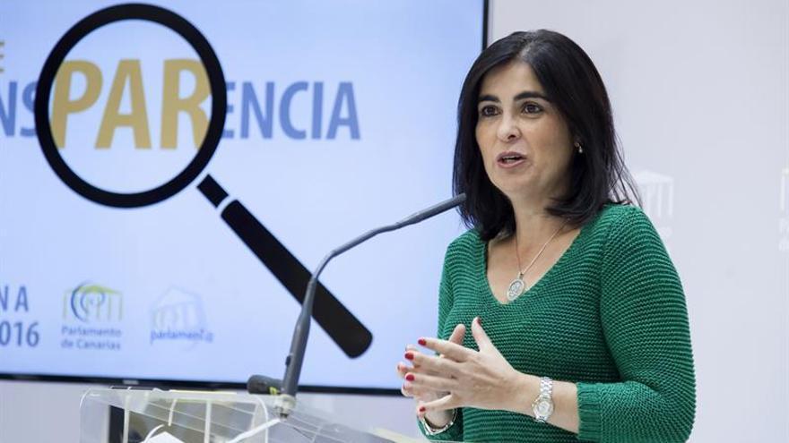 La presidenta del Parlamento de Canarias, Carolina Darias. EFE/Ramón de la Rocha