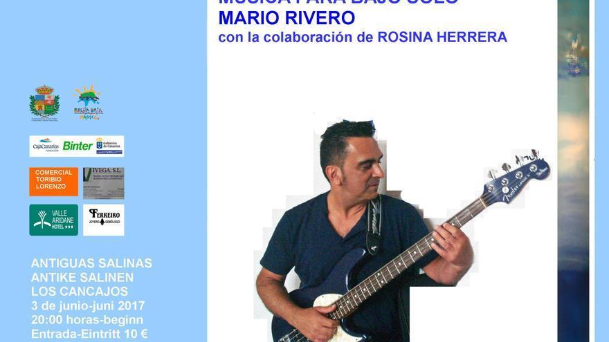 El bajista Mario Rivero.
