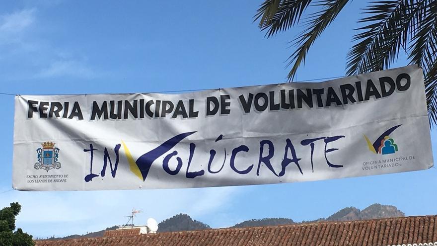 Pancarta de la Feria del Voluntariado.