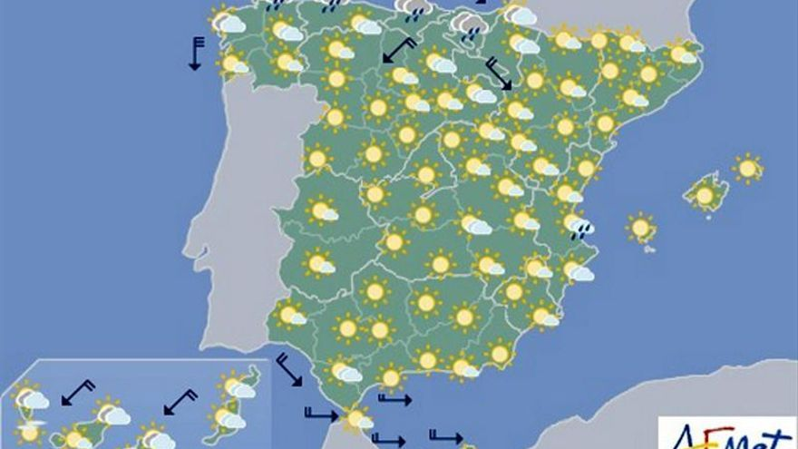Hoy siguen las temperaturas altas en el noreste y tormentas en Pirineos