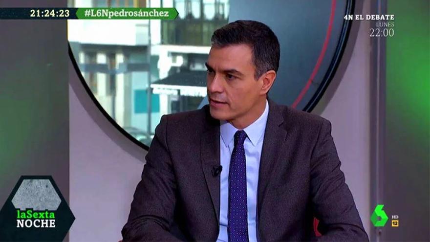 Pedro Sánchez en una visita anterior a 'laSexta Noche'