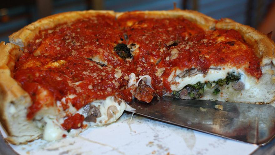 Deep Pizza en Giordano's. A Gude